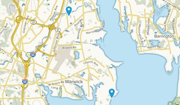 Warwick, Rhode Island Map