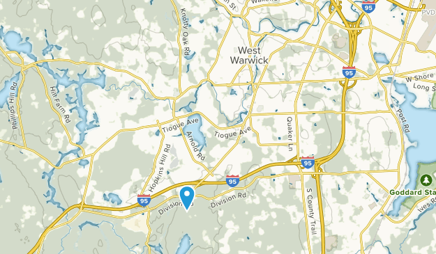 West Warwick, Rhode Island Map
