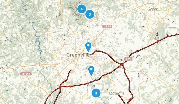 Greenville, South Carolina Map