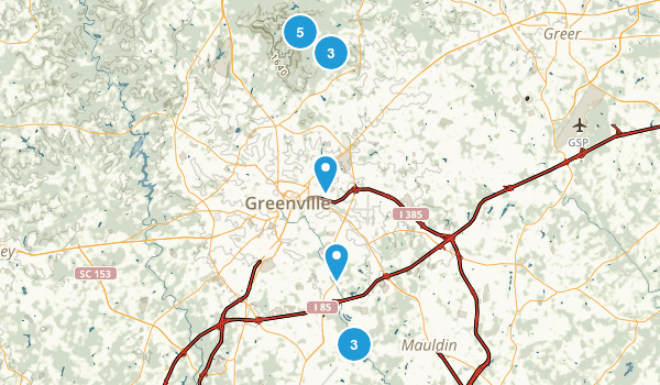 Greenville, South Carolina Map