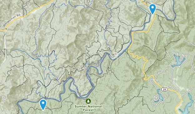 Long Bottom Ford, South Carolina Map