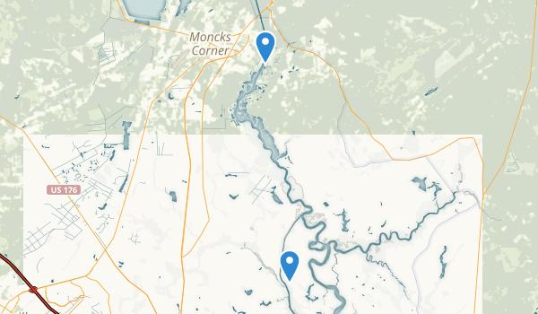 Moncks Corner, South Carolina Map