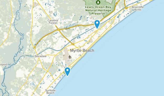 Myrtle Beach, South Carolina Map