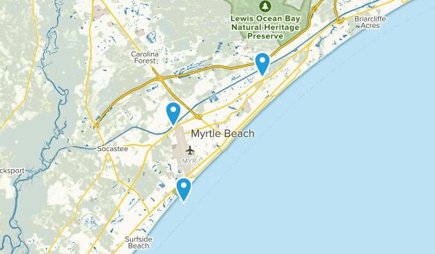 Myrtle Beach South Carolina Map