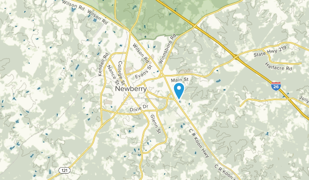 Newberry, South Carolina Map