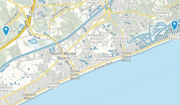North Myrtle Beach, South Carolina Map