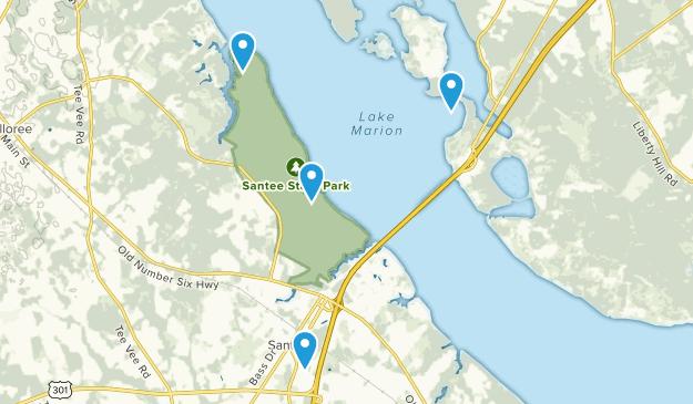 Santee, South Carolina Map
