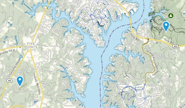 York, South Carolina Map