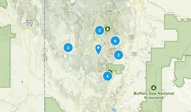 Custer, South Dakota Map