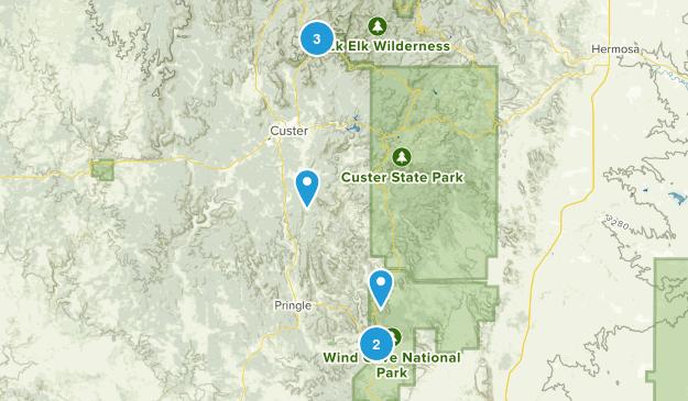 East Custer, South Dakota Map