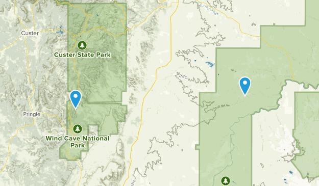 Fairburn, South Dakota Map