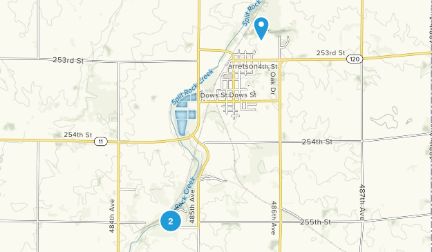 Garretson, South Dakota Map