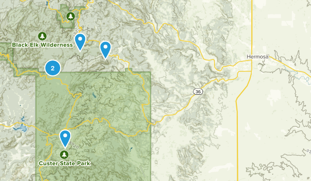 Hermosa, South Dakota Map
