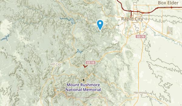 Mount Rushmore, South Dakota Map