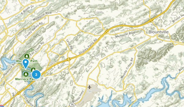 Blountville, Tennessee Map
