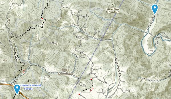 Buck Mountain, Tennessee Map