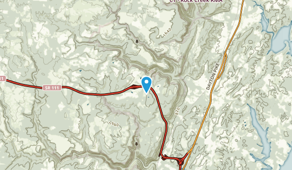 Flat Top Mountain, Tennessee Map