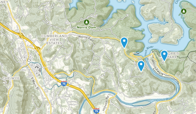 Lake City, Tennessee Map