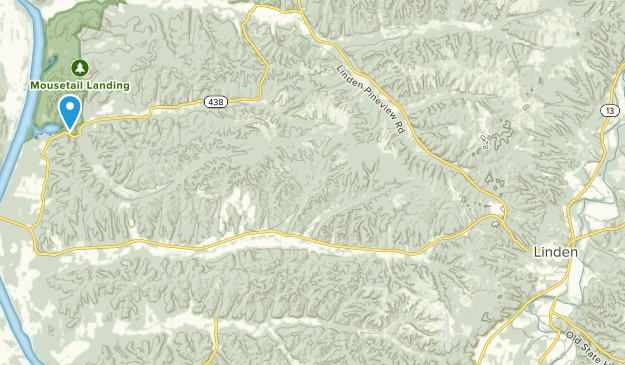 Linden, Tennessee Map