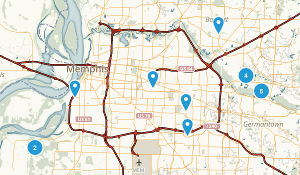 Best Trails Near Memphis Tennessee Photos Reviews - Memphis tn on us map