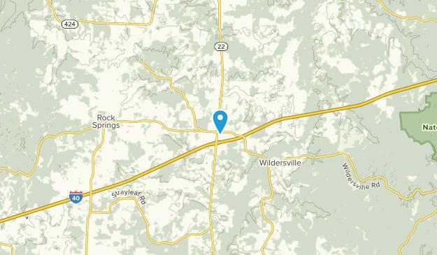 Parker Crossroads, Tennessee Map