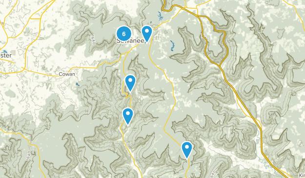 Sewanee, Tennessee Map