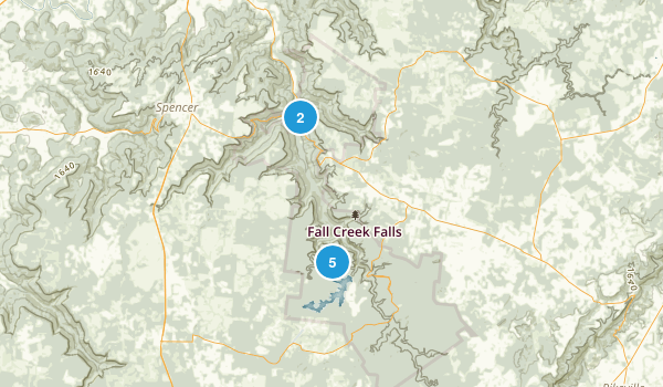 Spencer, Tennessee Map