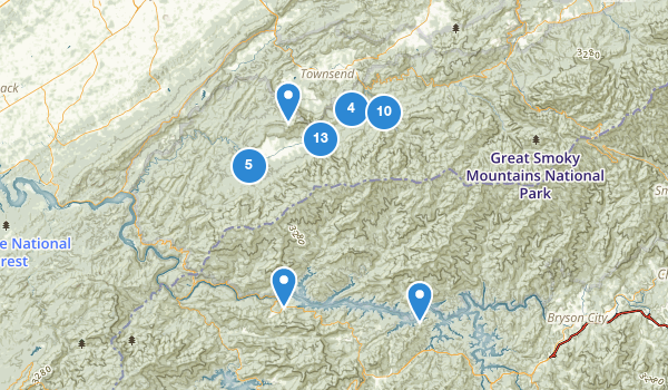 trail locations for Townsend, Tennessee