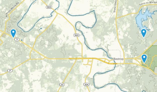 Bastrop, Texas Map
