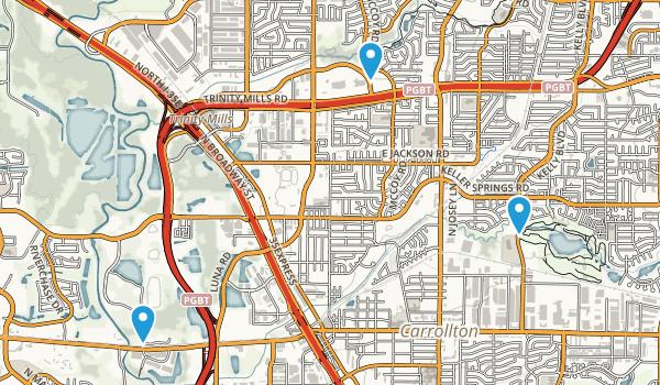 Carrollton, Texas Map