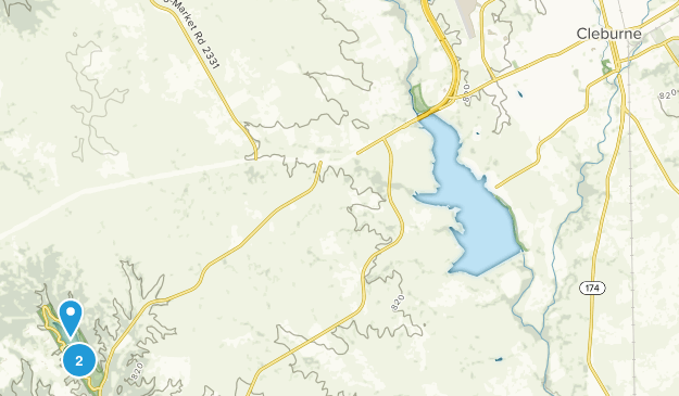 Cleburne, Texas Map