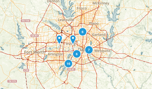 Dallas, Texas Map