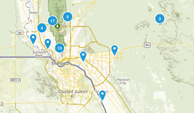 El Paso, Texas Map