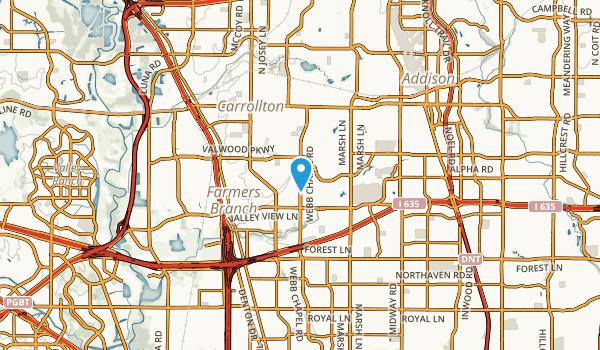 Farmers Branch, Texas Map