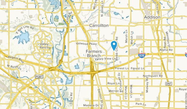 Farmers Branch, Texas Map
