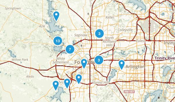 best trails near fort worth  texas