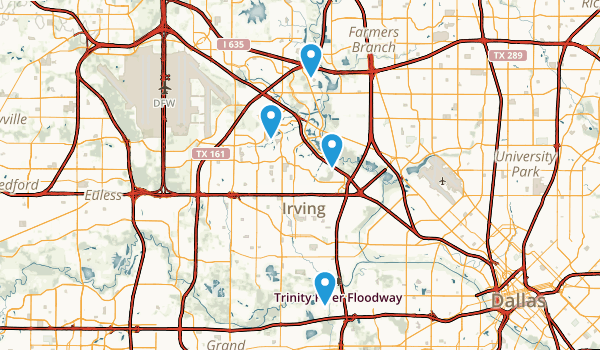 Irving, Texas Map