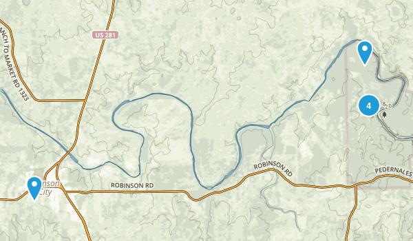 Johnson City, Texas Map