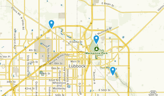 Lubbock, Texas Map