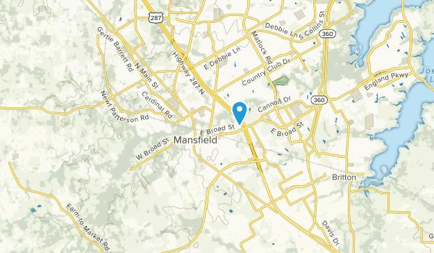 Mansfield, Texas Map