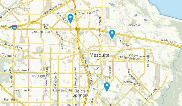 Mesquite, Texas Map