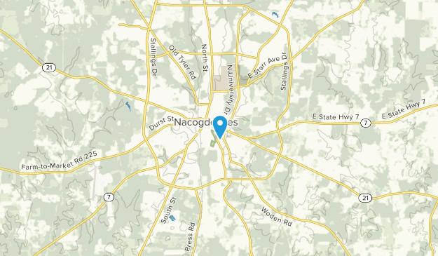 Nacogdoches, Texas Map