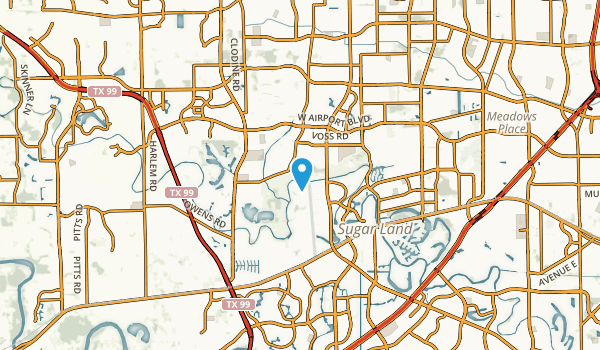 Pheasant Creek, Texas Map