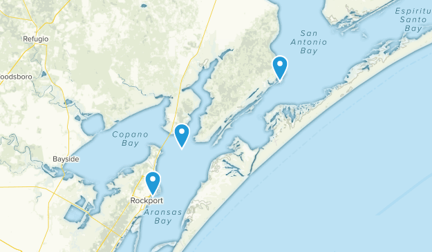 Rockport, Texas Map