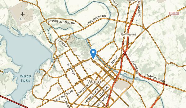 Waco, Texas Map