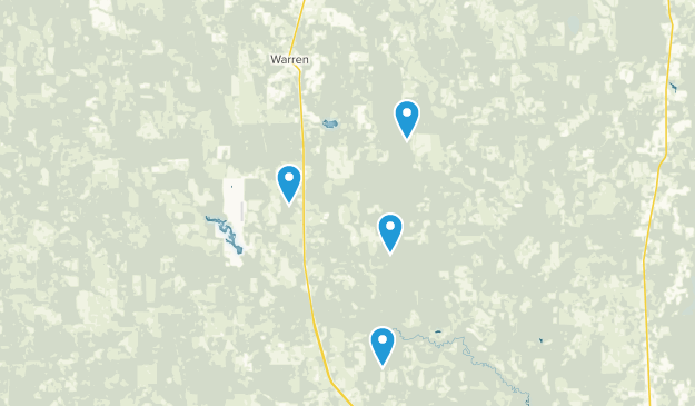 Warren, Texas Map