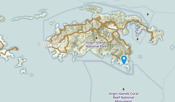 St John, United States Virgin Islands Map