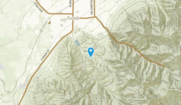 Angels Grove, Utah Map