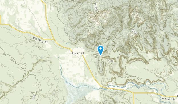 Bicknell, Utah Map