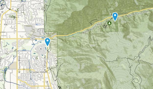 Cedar Hills, Utah Map